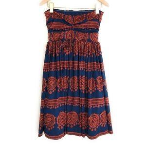 Anthropologie Blue/Orange Girls From Savoy